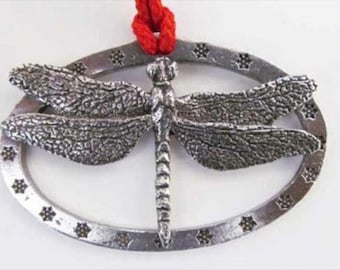 Pewter ~ Dragonfly ~ Holiday Ornament ~ A034OR