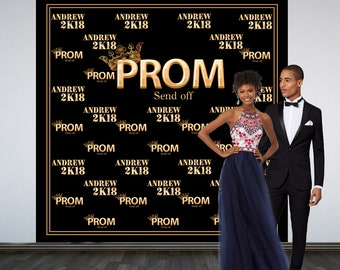 Prom Send Off Personalized Photo Backdrop, Prom 2K18 Photo Backdrop, Royal Prom Court Photo Backdrop, Photo Booth Backdrop