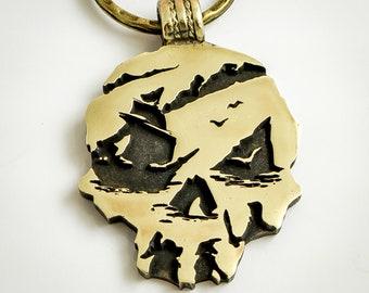 Sea of Thieves brass keychain