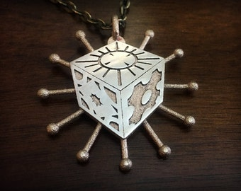 Hellraiser Lament Configuration Pinhead Stainless Steel 3D Printed Pendant and Keychain