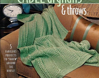 Lisa's New And Easy Cable & Throws Afghans Crochet Pattern Book Annie's Attic 878523