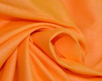 Orange plain cotton