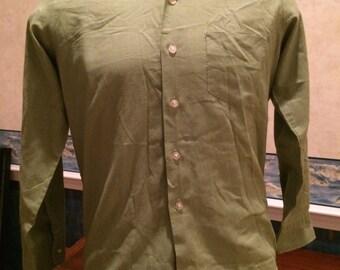 1960s Oxford Shirt - Mens Light Green Dress Shirt from Norgate size Medium