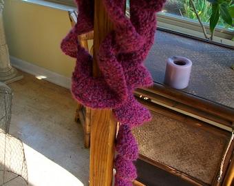 Crochet Berry Twist Scarf