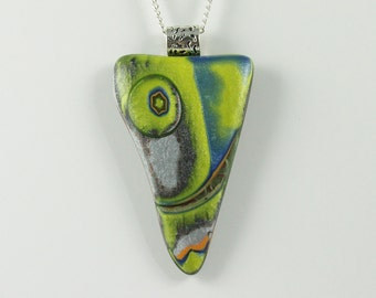 Polymer Clay Shark Tooth Pendant