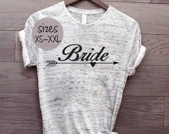 Bride tshirt, bride to be, bachelorette gift, bridal shower gift, wedding shirt, wedding day, plus size bride, married life, mrs tshirt