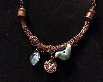 Spring Time Blue Bird Necklace