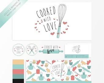Baking Logo Branding Kit, Bakery Logo, Cooking Logo, Kitchen Logo, Recepy Logo, Restaurant Logo, Food Logo, Modern Logo Design