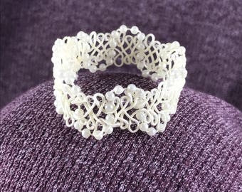 Beaded Lace Crown