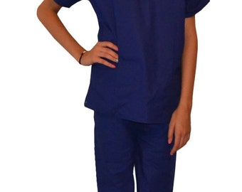 Royal Blue Kids Scrubs Embroidered Personalized for little Doctors and  Nurses