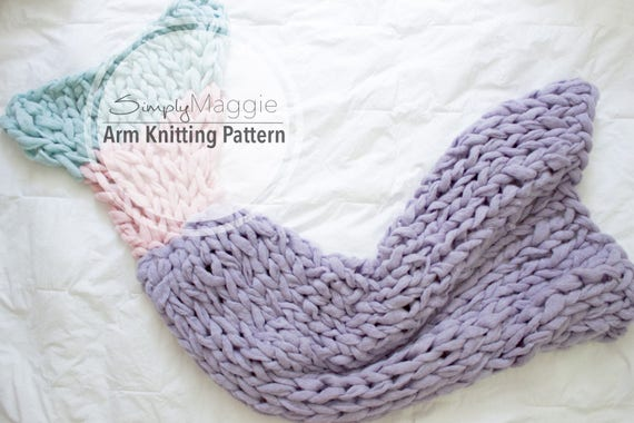 Arm Knitting Pattern Mermaid Tail Beginners Level