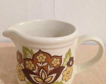 Vintage Sadler Retro Floral Creamer made in England