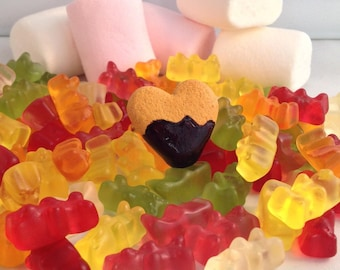 Fimo chocolate heart cookie ring