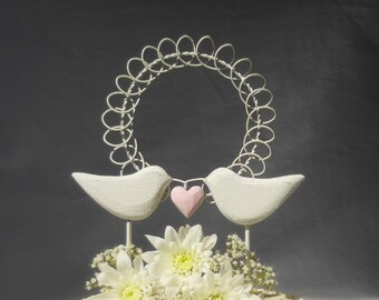 Love Birds Wedding Cake Topper,  Bird Cake Topper, Rustic Wedding Topper, Wood Wedding Decor