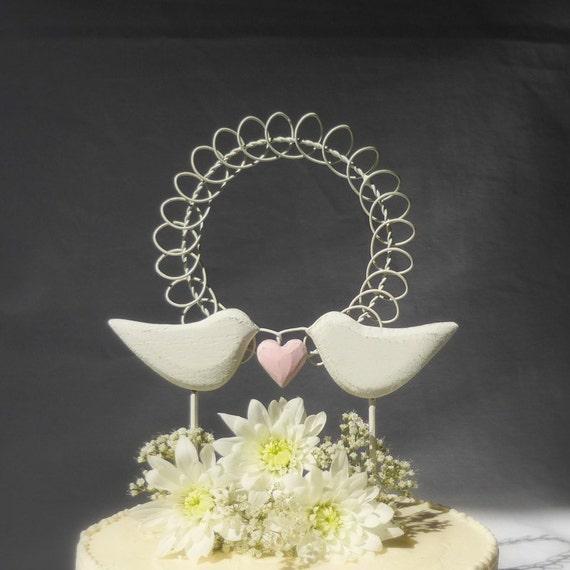 Items similar to Love Birds Wedding Cake Topper, Bird Cake Topper ...