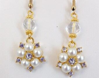 Renaissance Necklace Earrings, Bridal Earrings, Tudor Earrings, Medieval Earrings, Renaissance Jewelry, Tudor Jewelry, Replica Jewelry
