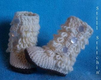 Crochet Furrylicious Baby Boots