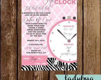 Around the clock bridal shower invitations around the clock bridal shower invite filmwisefo