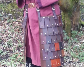 Pair of Leather Scale Tassets, armour for Larp, Costume or Cosplay