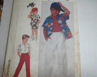 Simplicity Sewing Pattern 8157 Boy's Shirt Shorts Pants Size 6