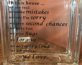 In this house glass block