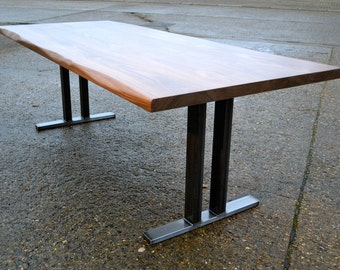 Conference Table - Walnut - Steel Base