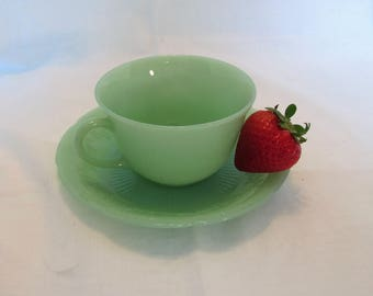Fire King Jadeite Cup and Saucer Cup and Saucer