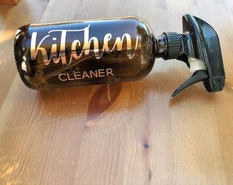 16 oz CUSTOM bottle label// essential oil label//household cleaner//all purpose cleaner//
