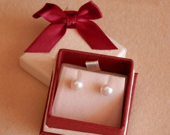 Ohrstecker Ohrringe Brautjungfer Geschenk Süßwasser Perle Ohrringe Brautjungfer Ohrringe weiße Perle Ohrringe Perle Ohrstecker