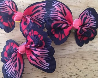 Butterfly Bows, Monarch Butterfly Bows, Butterfly Hair Clip,Butterfly Barrettes