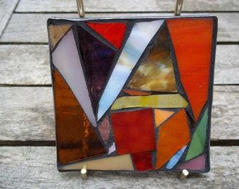 stained glass mosaic coaster/suncatcher
