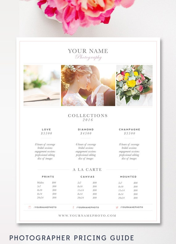 Wedding Photography Packages Template: Wedding Photography Price List Photography Pricing Guide