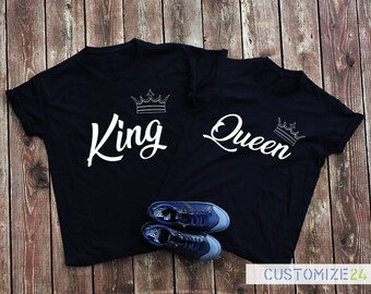 King Queen t-shirt queen crown king crown king and queen t-shirts set couple cute couple gift king and queen crown couple shirts set