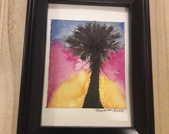 20% Off - Palmetto Watercolor Painting