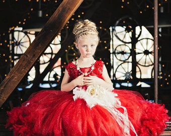 La Fleur De Mariage...A Beautiful Satin Rosette Dress Perfect For Weddings