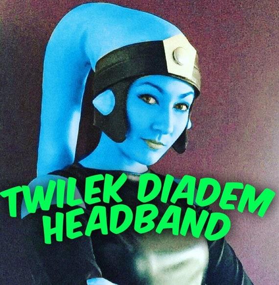 Twilek Headband for Lekku with Silver Diadem ywkVhK