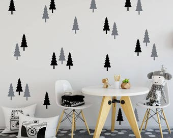 24 Woodland Trees Wall Decals Ships Free in the US