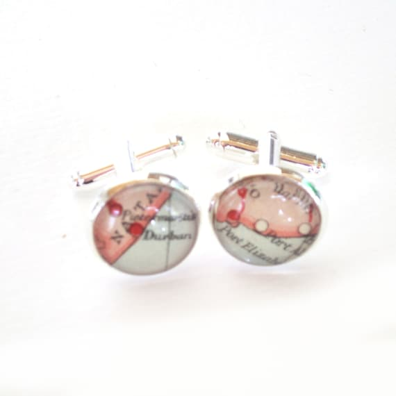 World map Cufflinks - Africa variations
