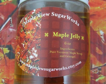 Maple Jelly - 6 oz of Wiggly-Giggly Jelly Heaven