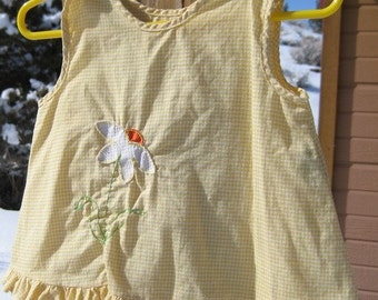 Vintage Summer Cotton Baby Dress Size 1 1/2