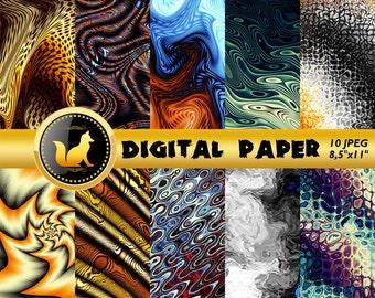 Abstract Waves Digital Paper,Waves Scrapbook Paper,Abstract Splash Background,Vintage Backdrop,digital paper,Abstract Background,Waves paper