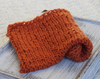 Rust Orange Roving yarn Bump Blanket, new born orange layer