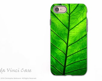Tropical Green Leaf - Artistic iPhone 7 and iPhone 8 Tough Case - Dual Layer Protection - Leaf of Knowledge
