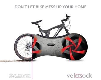VELOSOCK-FIREBIRD, Bike cover Bike bag Bike accessories Bike gift Bicycle cover Bicycle accessories Bicycle art Bicycle bag Bicycle fabric