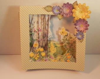 Flowers and Butterflies Concertina card