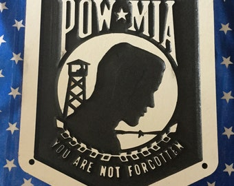 POW-MIA plaque Memorial piece