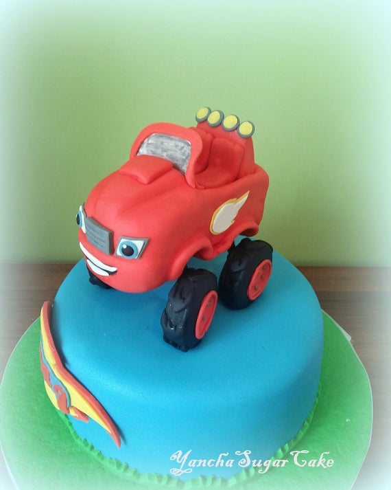 Fondant edible 3d cake topper Blaze and the monster machines