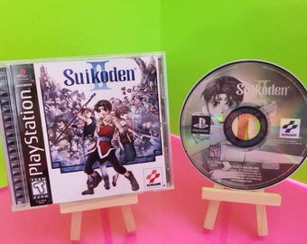 Suikoden 2 reproduction case with free art disc and Rom for PlayStation 1 , psx, ps1