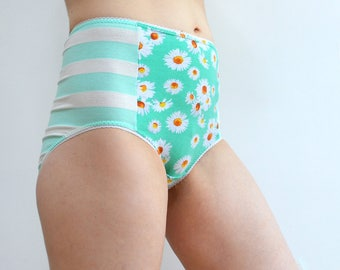 Panties with stripes and flowers underwear lingerie