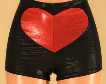 Harley Quinn Inspired Heart Booty Shorts